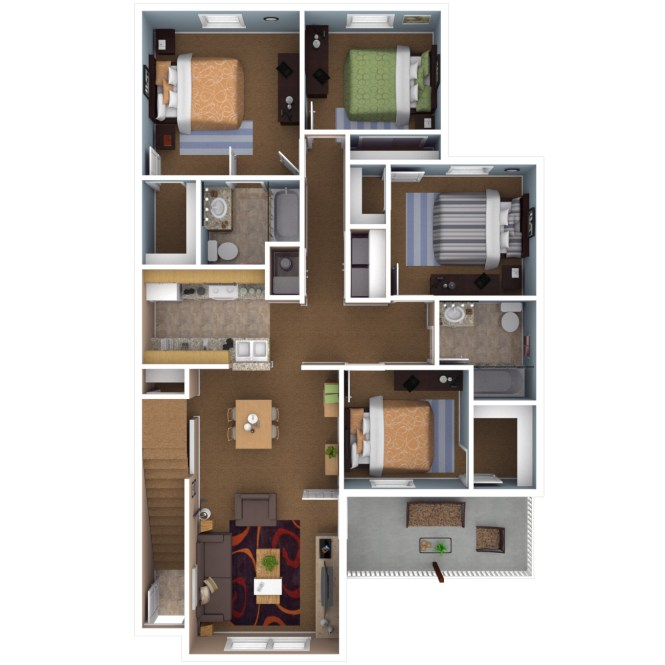 4 Bedroom Apartments In Indianapolis Floor Plans