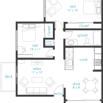 Clean 2 floor plan design