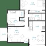 Clean 2 floor plan design