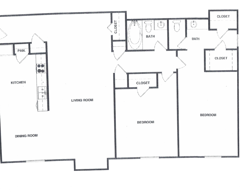Before floor plan redrawing by TourVista