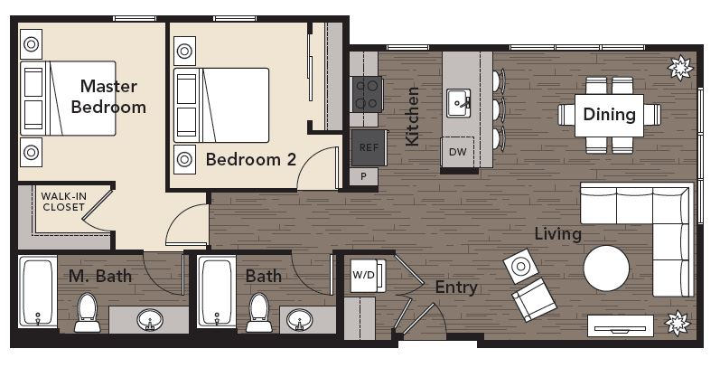 Modern floor plan design