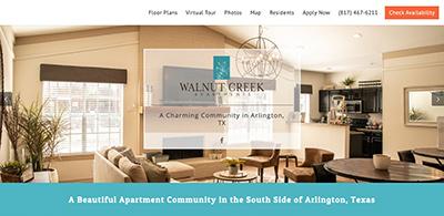 Nectar apartment website design
