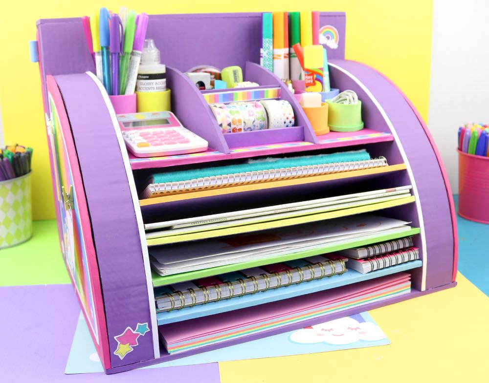 Unicorn Desktop Organizer apasos crafts