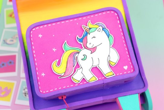 pencil case of unicorn