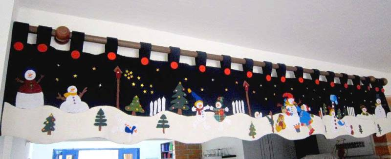 cenefa de navidad en fieltro