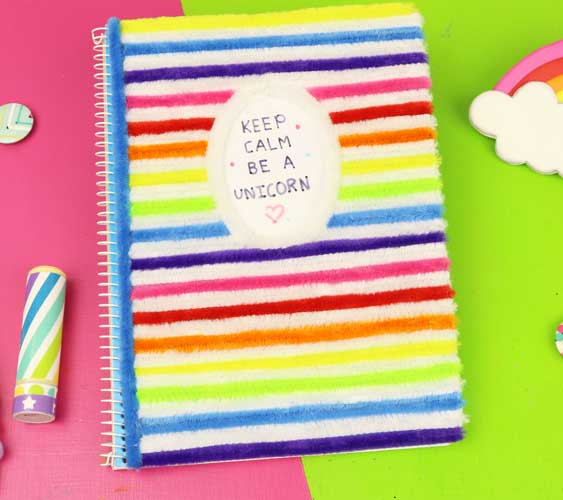 how to decorate unicorn notebook