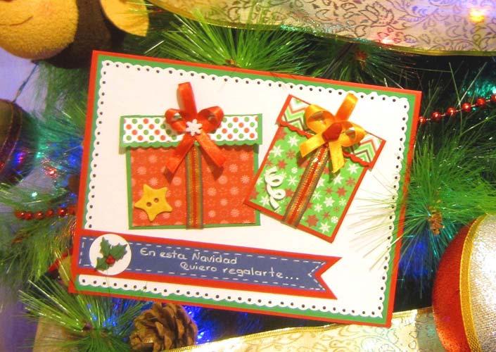 manualidades para navidad tarjetas