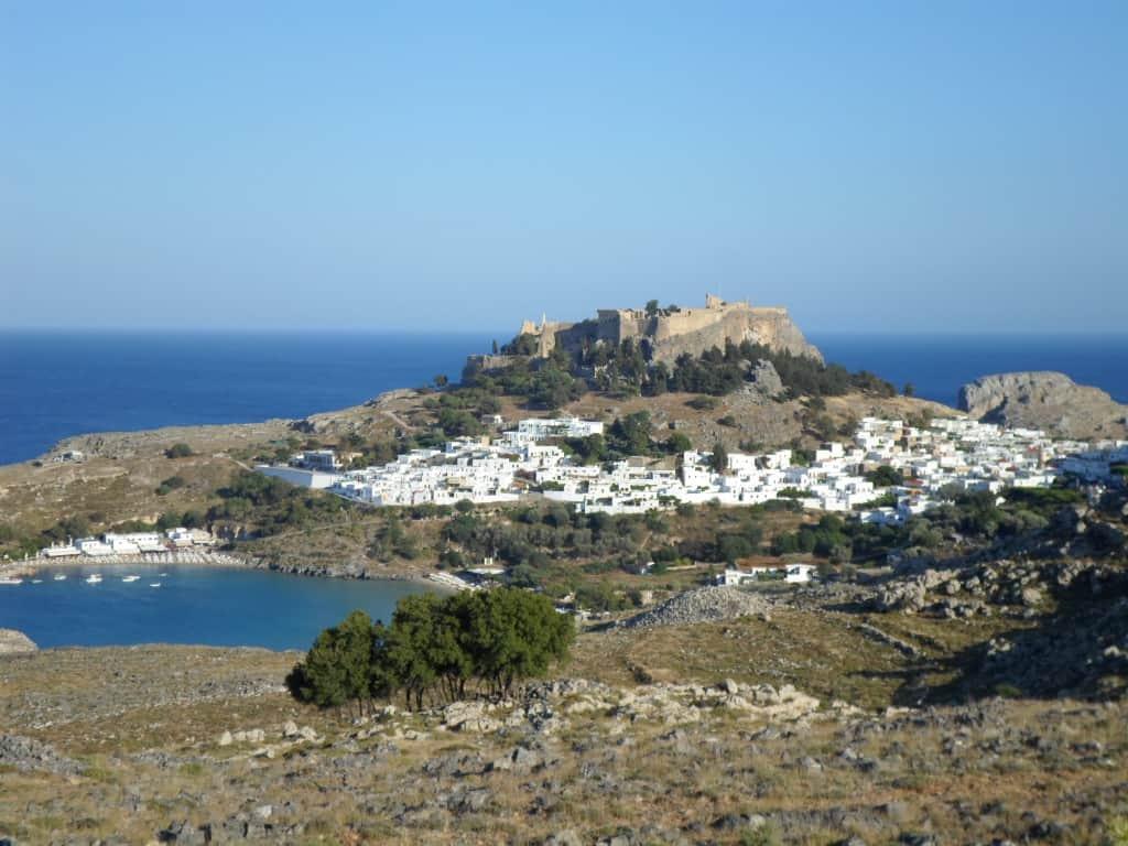 lindos, panorama, grecia, rodi