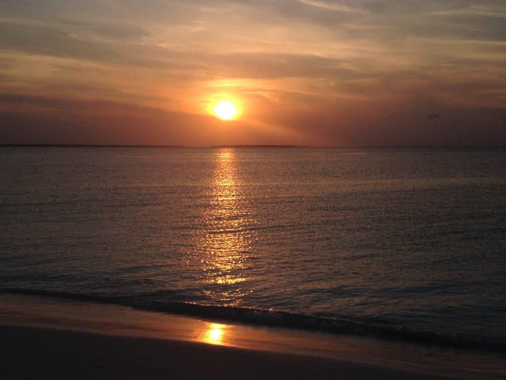 tramonto, zanzibar, mare, kendwa