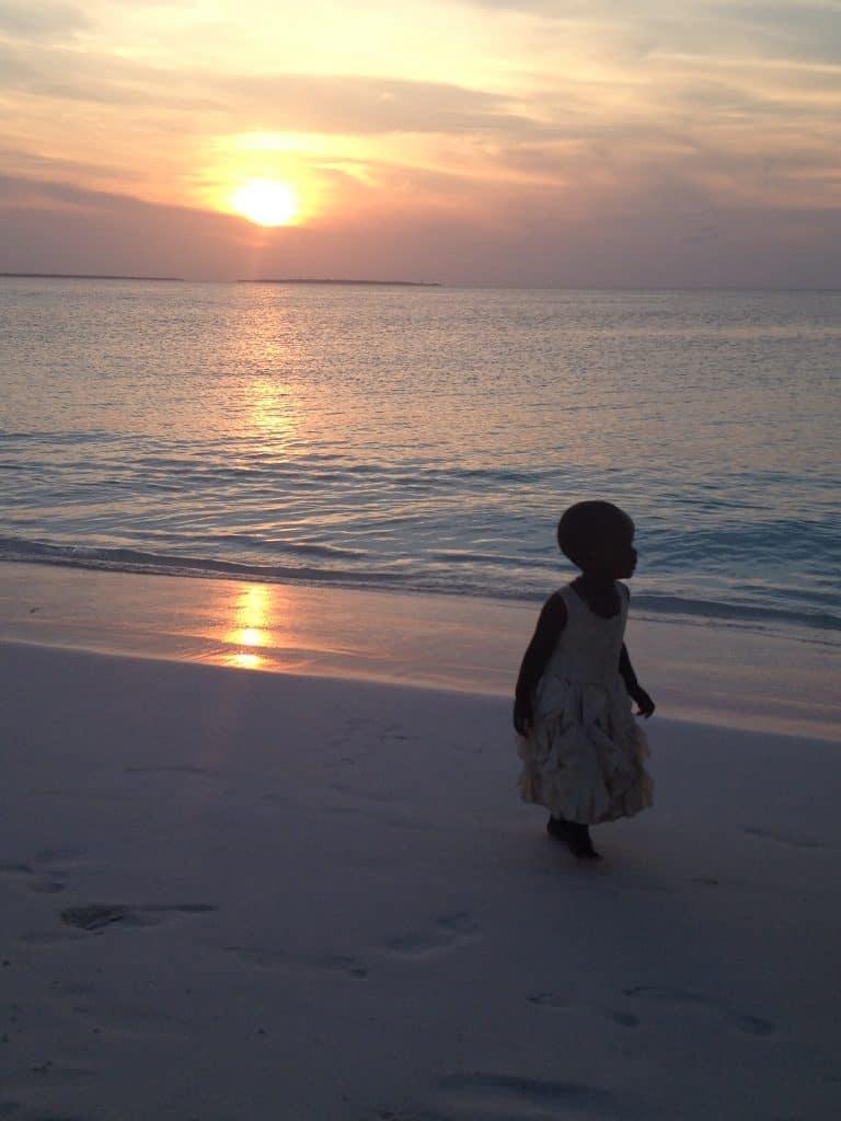 tramonto, zanzibar, mare, sole