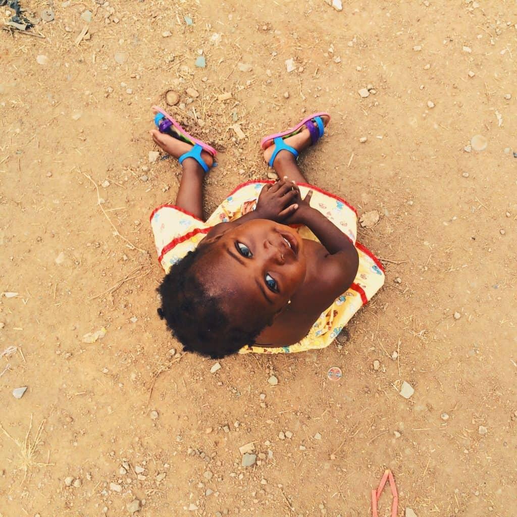 sorriso, bambino, africa