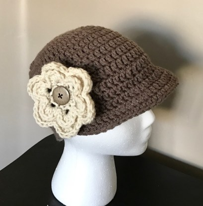 This Flapper Crochet Hat was my inspiration for crocheting Hats for other cancer patients.  Something I still do today!