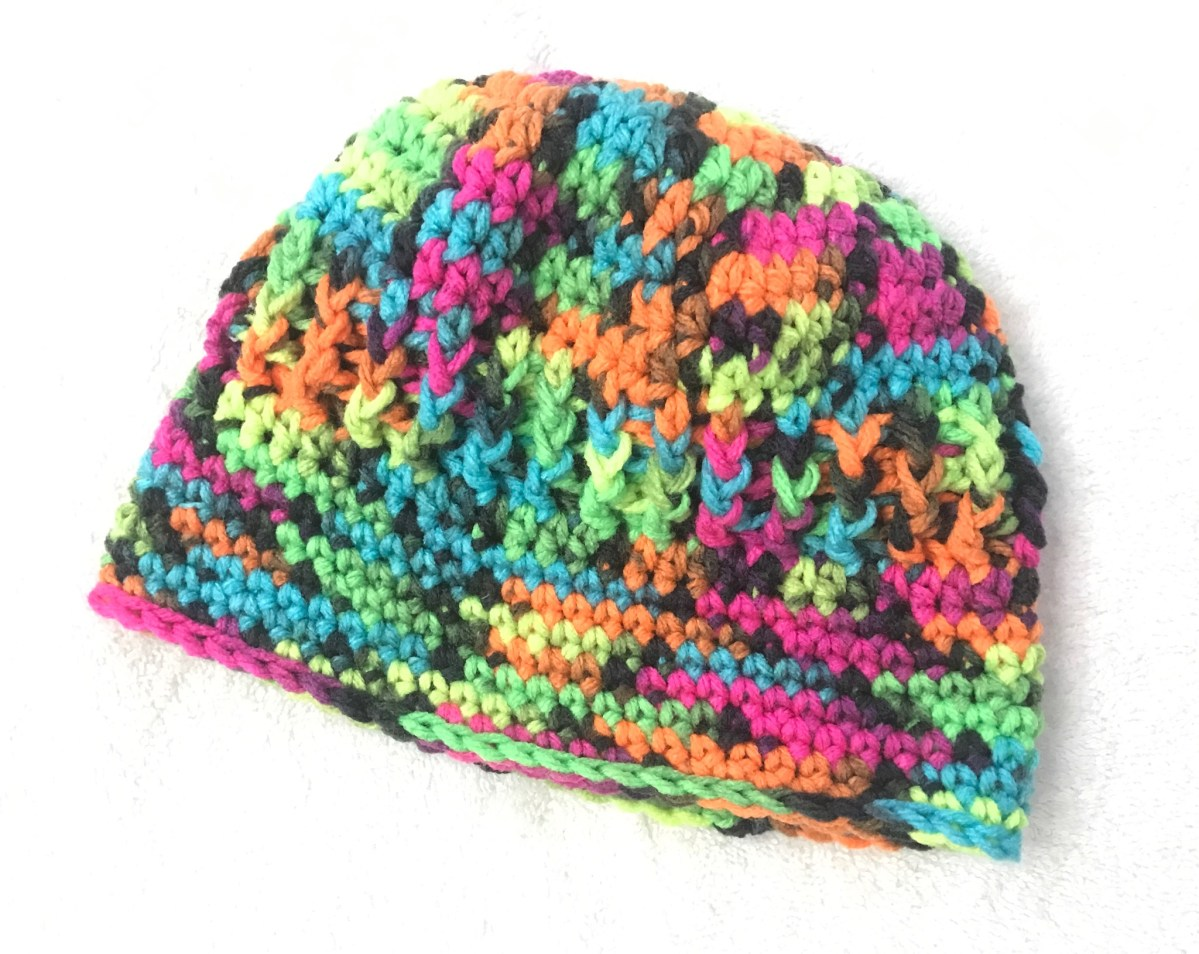 Baby J's Blacklight Hat - Free Crochet Pattern