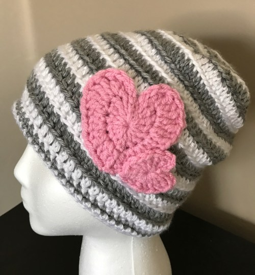 Stripes and Hearts, Valentine Hats you'll love
