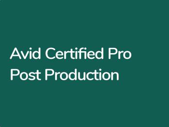 Montange vidéo dans AVID Media Composer. Certification AVID Professionnel Certifié