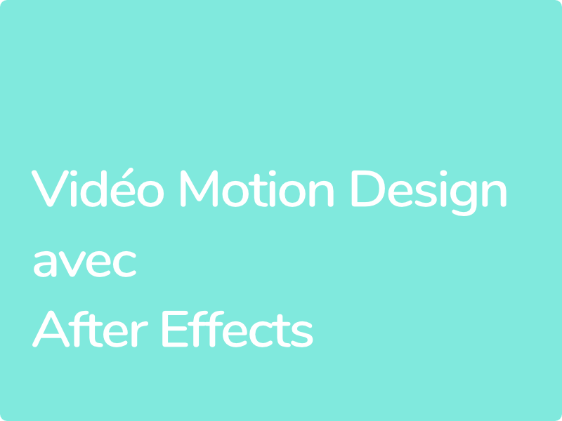 Formation Motion Design After Effects