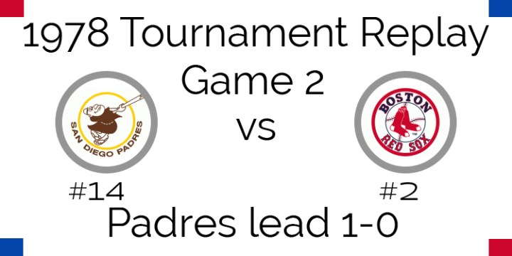 Game 2 – 1978 Tournament Replay Padres vs Red Sox