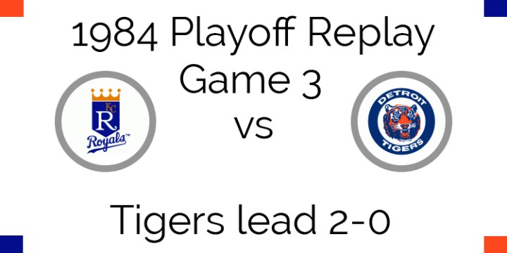 1984 Playoff Replay – ALCS Game 3 – Royals vs Tigers