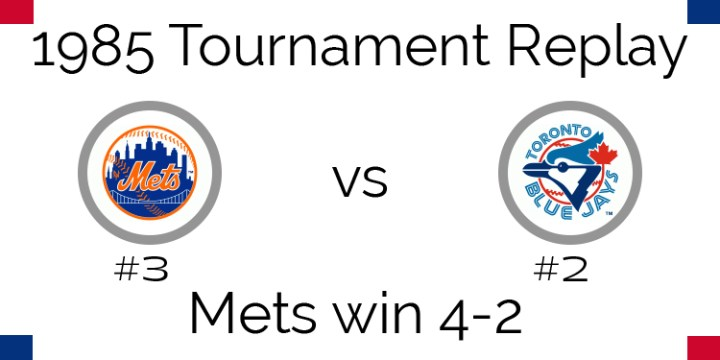 1985 Tournament Results – Mets beat Blue Jays in 6