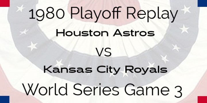 1980 Playoff Replay – World Series – Astros at Royals – Game 3