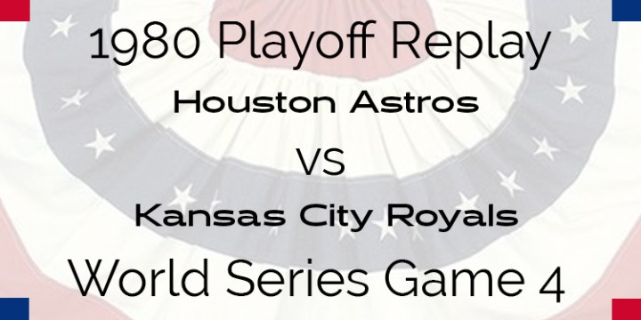 1980 Playoff Replay – World Series – Astros at Royals – Game 4