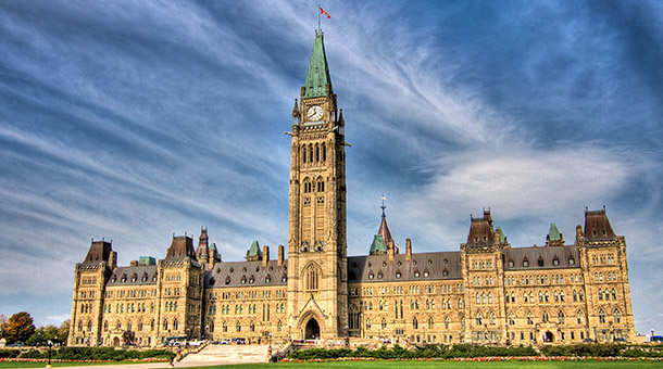 Canadian Parliament in Ottawa Ontario