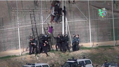 Imagen del vídeo de los hechos denunciados (Prodein)