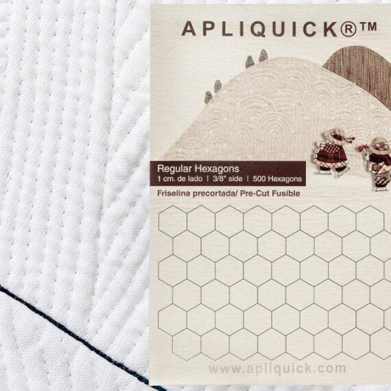 """Regular Hexagons  3/8"""" - 1cm  APLIQUICK  (Flisellina pretagliata a forma di esagono)"""