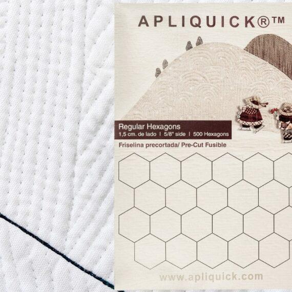"""Regular Hexagons  5/8"""" - 1,5 cm  APLIQUICK  (Flisellina pretagliata a forma di esagono)"""