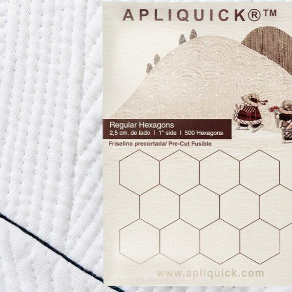"""Regular Hexagons  1"""" - 2.5 cm  APLIQUICK  (Flisellina pretagliata a forma di esagono)"""
