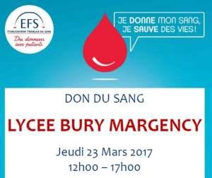 Je donne mon sang, je sauve des vies @ Bury | Margency | Île-de-France | France