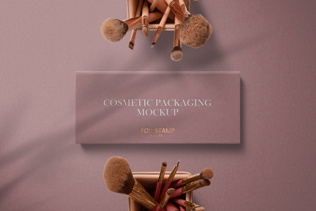 Download Free Cosmetic Box with Brushes Mockup | Free Mockups, Best ...