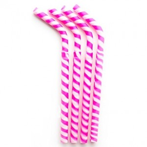 silicone-drinking-straws-4-pack-pink-stripe-by-greenpaxx