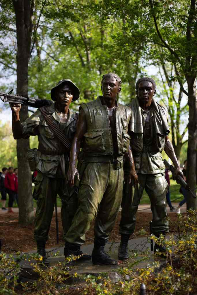 The Three Soldiers at the Vietnam War Memorial