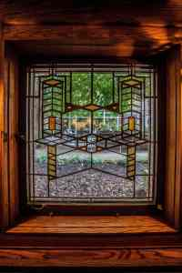 Foyer Window in Frank Llyod Wright's Frederick C. Robie House