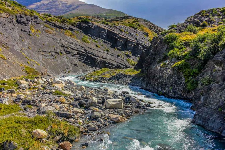 winding river running through the mountains