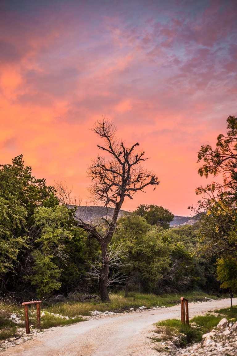 Texas Sunset in Vanderpool Texas