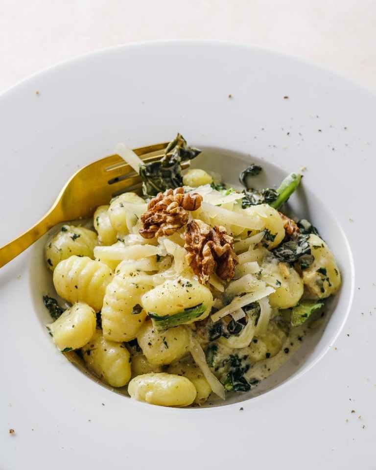 Pesto Spinach Gnocchi Pasta Dinner