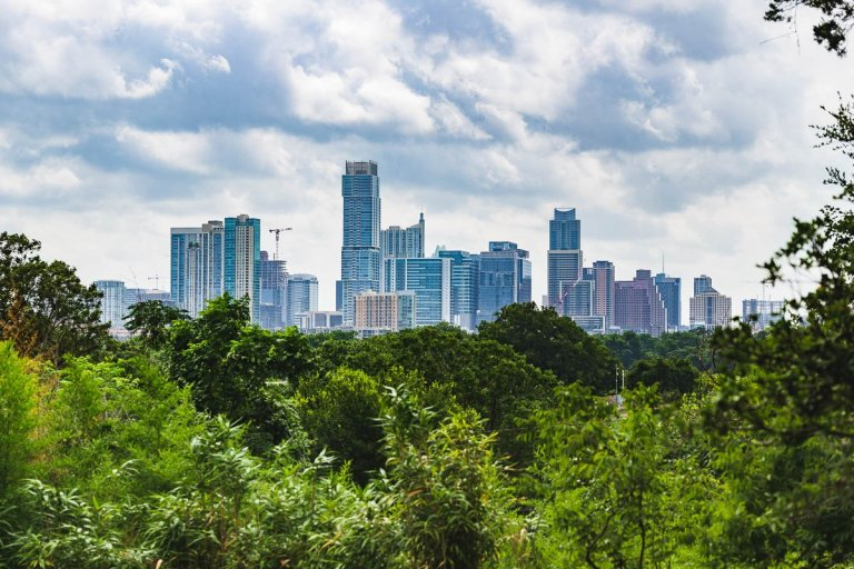 Skyline View of Austin, Texas High Rises