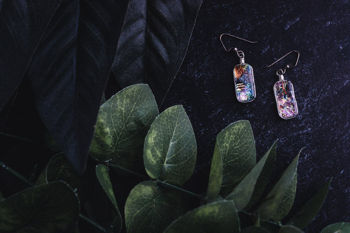 Glass Art Earrings