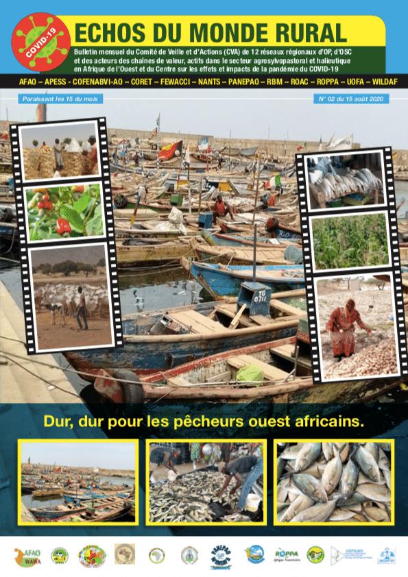 2è numéro d'ECHOS DU MONDE RURAL. Bulletin bimensuel du Comité de Veille et d'Actions (CVA) de 12 réseaux régionaux d'OP, d'OSC et des acteursdes chaînes de valeur, actifs dans le secteur agrosylvopastoral et halieutique en Afrique de l'Ouest et du Centre