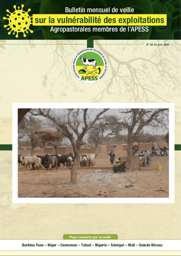 2ème Bulletin mensuel de veille sur la vulnérabilité des exploitations agropastorales membres de l'APESS.
