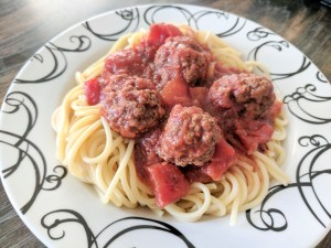 Slow Cooker Meatballs and Spaghetti