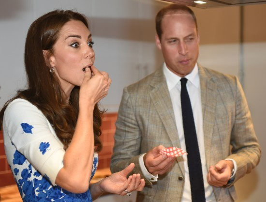 The Duke and Duchess of Cambridge visit Bute Mills, to learn about the work of Youthscape in Luton, Bedfordshire, UK, on the 24th August 2016. Picture by Eddie Mulholland/WPA-Pool Pictured: Duchess of Cambridge, Catherine, Kate Middleton, Prince William, Duke of Cambridge Ref: SPL1339916 240816 Picture by: Splash News Splash News and Pictures Los Angeles:310-821-2666 New York: 212-619-2666 London: 870-934-2666 photodesk@splashnews.com
