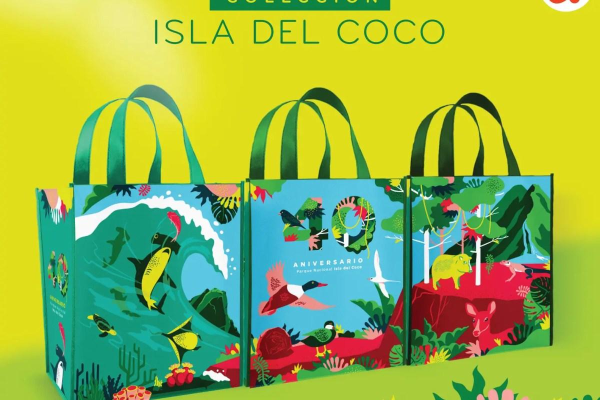 Auto Mercado festeja a la Isla del Coco con edición coleccionable de bolsas reutilizables