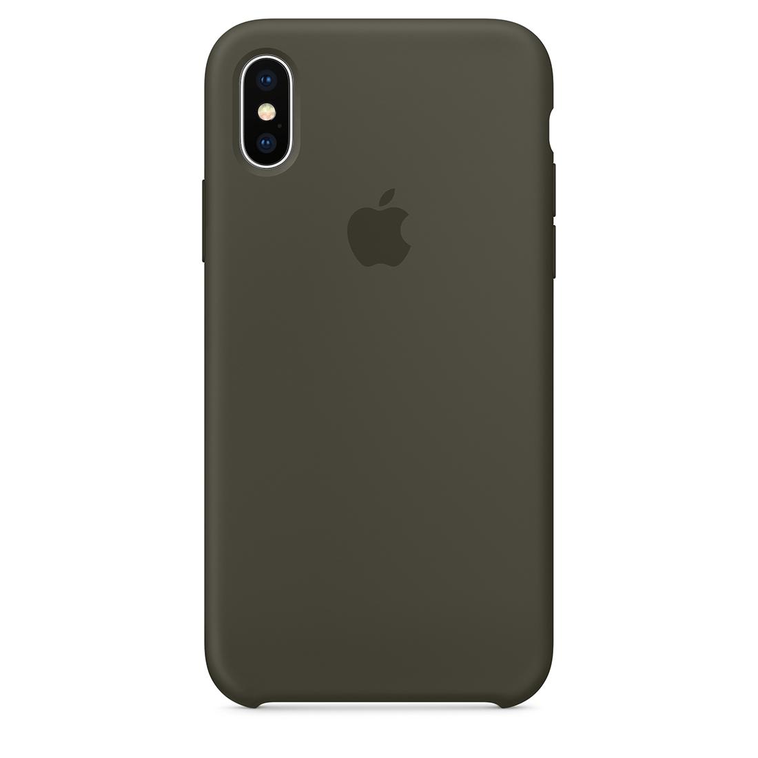 apple-iphone-x-silicone-case-in-dark-olive