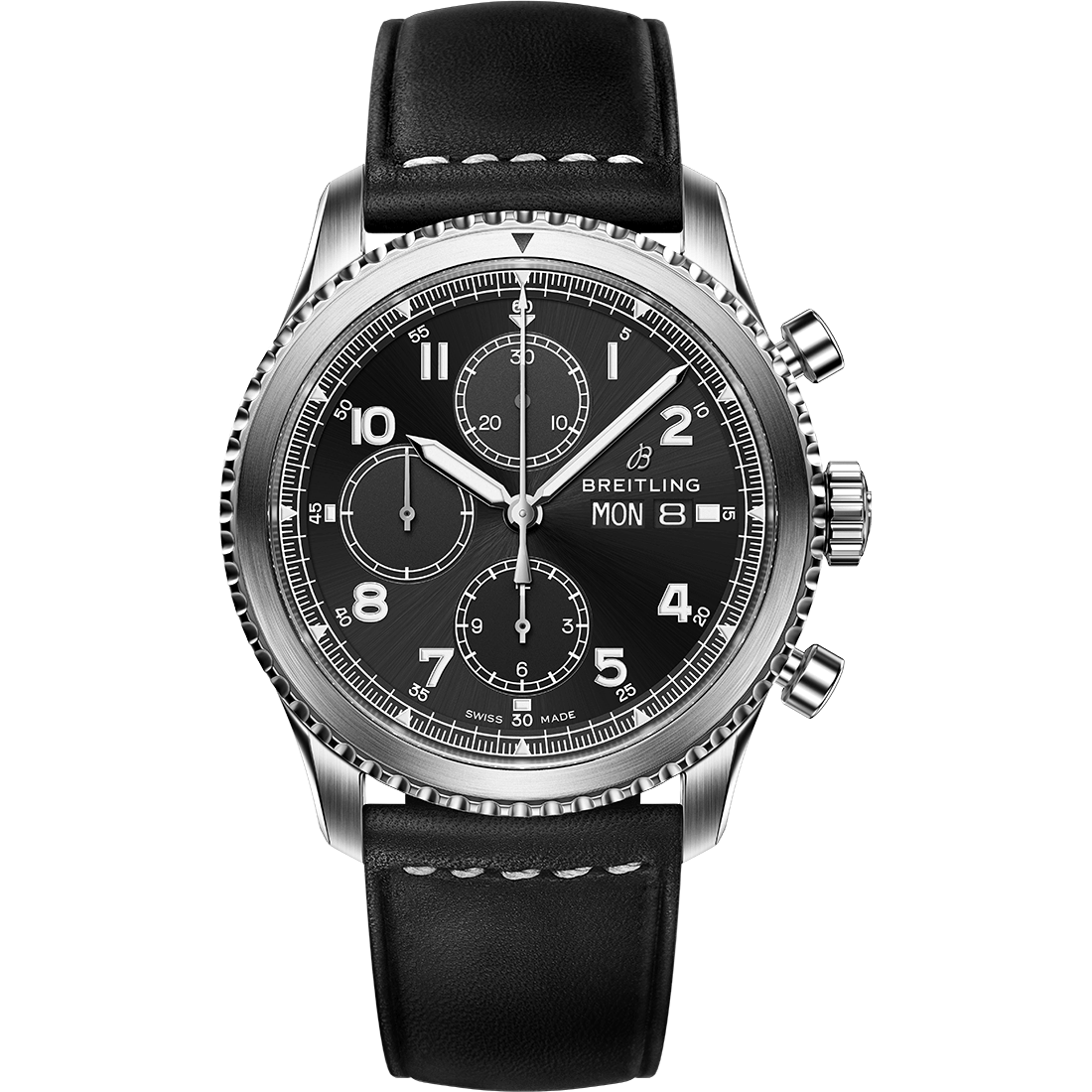 navitimer-8-chronograph-with-black-dial-and-black-leather-strap