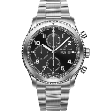 Navitimer 8 Chronograph with black dial and stainless steel bracelet