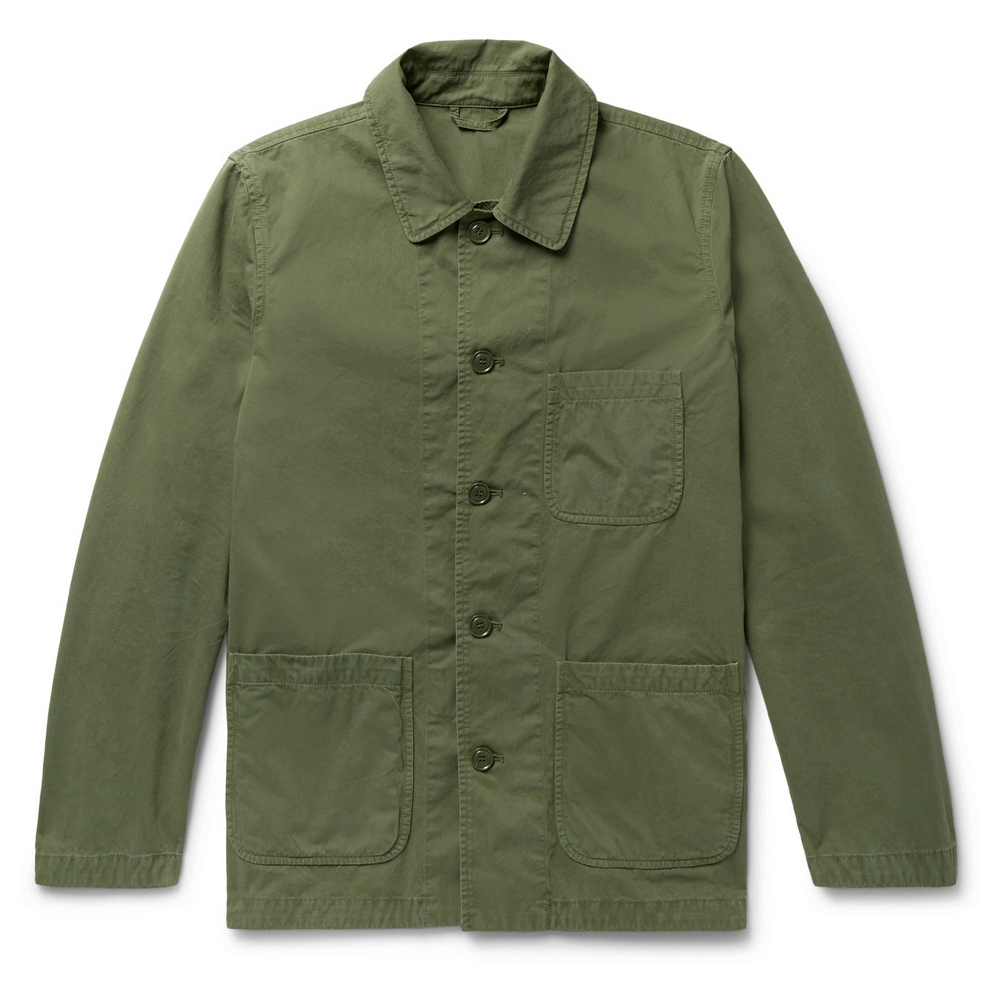 Aspesi Garment-Washed Cotton-Twill M-65 Field Jacket