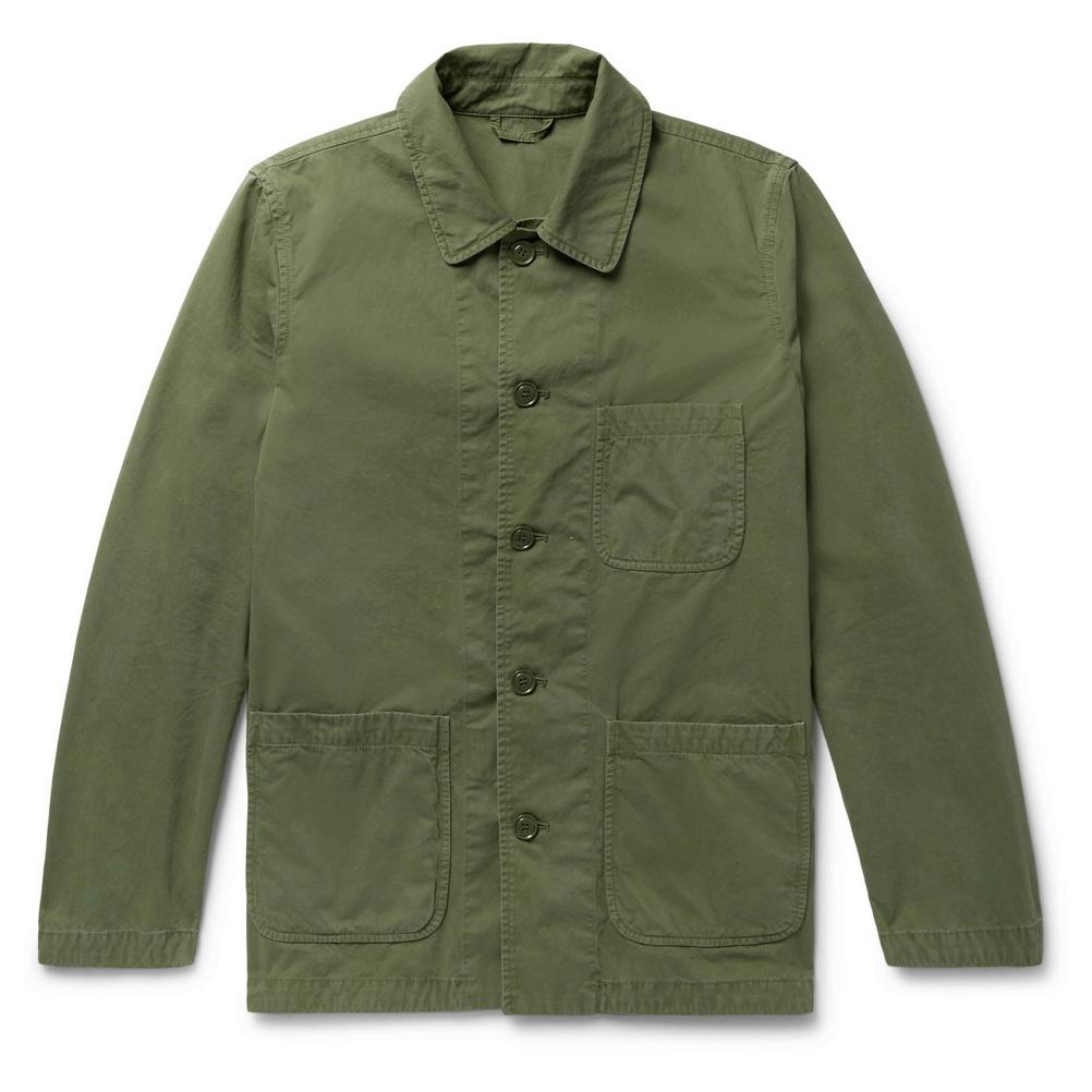 Aspesi Garment-Washed Cotton-Twill M-65 Field Jacket